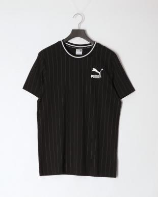 PUMA BLACK/COTTON BLACK FAVORITE イグナイト ブロックショーツ 7インチ/PINSTRIPE AOP Tシャツ SETを見る