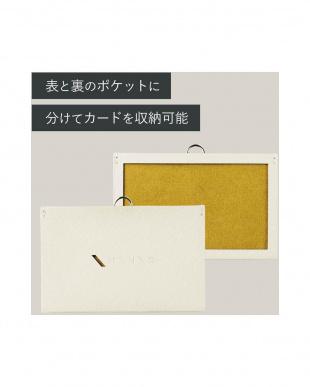 パールグレー×オーカーイエロー 「パスケース」 2枚収納タイプ/ストラップ付きを見る