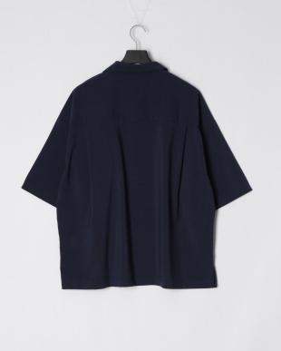 ネービー ポリラミー両ポケBIGシャツを見る