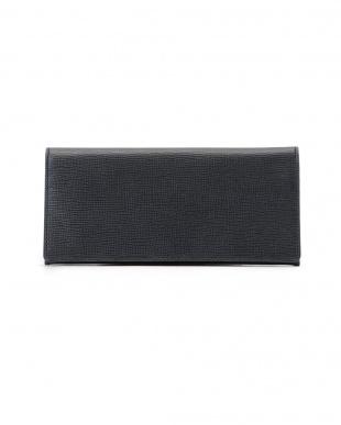 ネイビー ロディ レザー フラップ長財布を見る