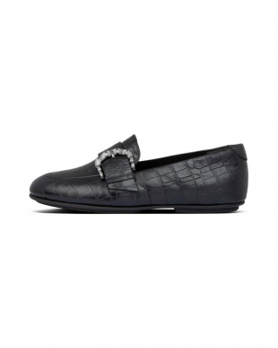 All Black LISBET CROCO LOAFERを見る