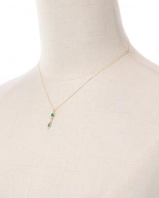K18YG エメラルド&ダイヤ ネックレスを見る