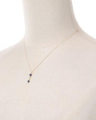 K18YG サファイヤ&ダイヤ ネックレスを見る