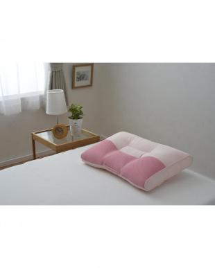 ピンク 西川  頸椎支持型 高さ自在枕を見る