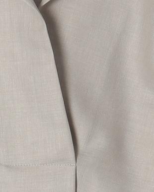 ペールグレー リネン調素材オーバーデザインシャツを見る