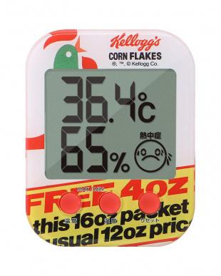 Kellogg's デジタル温湿度計 レッド 3個セットを見る