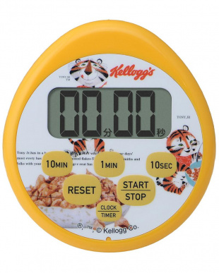 イエロー Kellogg's 時計付防水タイマー デジタルスケール セットを見る