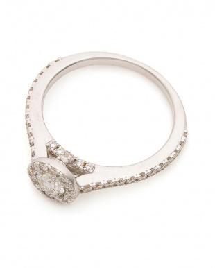 ホワイトゴールド K18WG 鑑定付きダイヤモンド合計0.5ct マイクロセッティング 取り巻きリング(H-SI2クラス)を見る