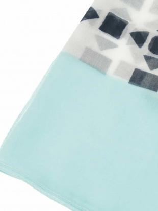 ネイビー 【洗える】ミックスカラーストライプデザインスカーフ HIROKO BISを見る