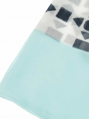 アイボリー 【洗える】ミックスカラーストライプデザインスカーフ HIROKO BISを見る