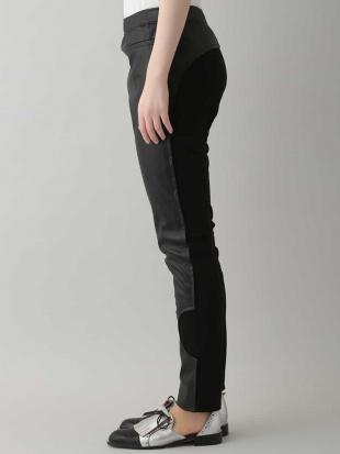 ブラック 【洗える/日本製】ドッキングデザインパンツ HIROKO KOSHINOを見る