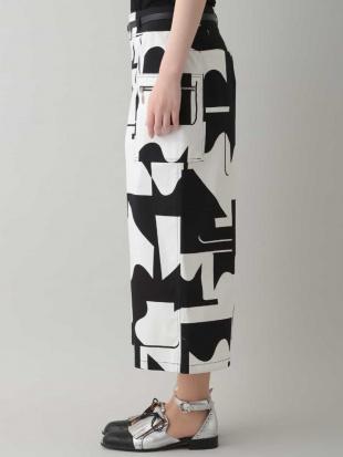 ホワイト 【洗える】綿ストレッチデザインパンツ HIROKO KOSHINOを見る