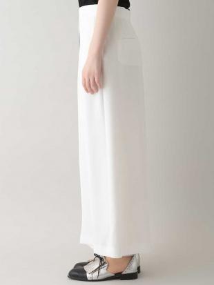 ホワイト 【日本製】配色ボリュームパンツ HIROKO KOSHINOを見る