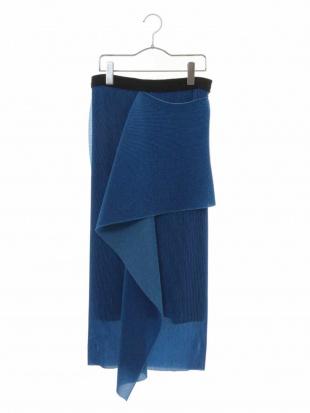 ブルー 【洗える】プリントチュールプリーツスカート HIROKO KOSHINOを見る