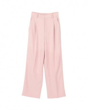 ピンク カラーワイドパンツを見る