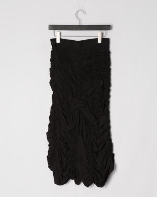 Black ナイロンオールギャザースカートを見る