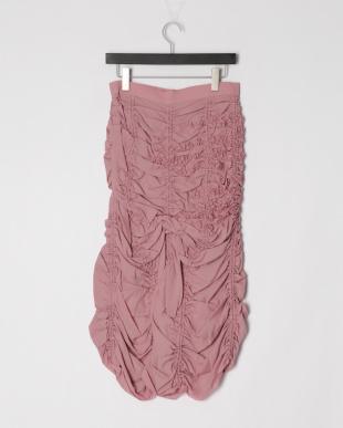 Pink ナイロンオールギャザースカートを見る