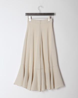 ベージュ La maglia estate ロングフレアスカートを見る