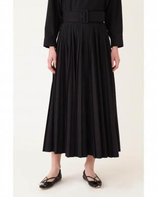 ブラック 《LE PHIL》タイプライターベルト付きプリーツスカート le PHILを見る