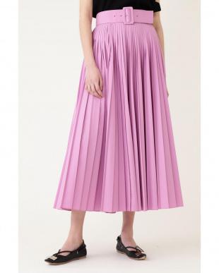 ピンク 《LE PHIL》タイプライターベルト付きプリーツスカート le PHILを見る