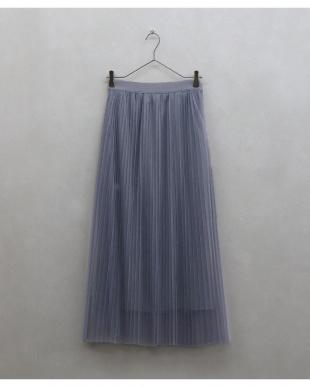 ブルー チュールプリーツスカートを見る