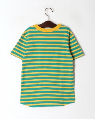 グリーン ボーダーリンガーTシャツを見る