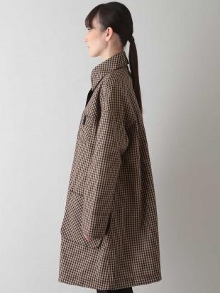 グリーン 【洗濯機で洗える】ギンガムパターンコート TRUNK HIROKO KOSHINOを見る