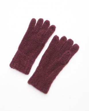 マゼンダ ケーブル網ニット手袋を見る