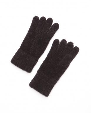 クロ ケーブル網ニット手袋を見る