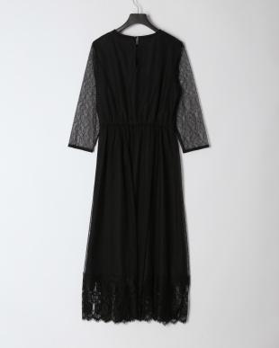 ブラック シアーレースドレスを見る