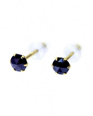 K18YG ブラックダイヤモンド 計0.2ct ローズカット 6本爪ピアスを見る