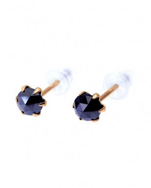 K18PG ブラックダイヤモンド 計0.5ct ローズカット 6本爪ピアスを見る