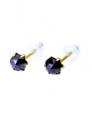 K18YG ブラックダイヤモンド 計0.5ct ローズカット 6本爪ピアスを見る