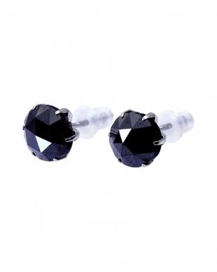 K18WG ブラックダイヤモンド 計2ct ローズカット 6本爪ピアスを見る