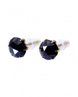 K18YG ブラックダイヤモンド 計2ct ローズカット 6本爪ピアスを見る