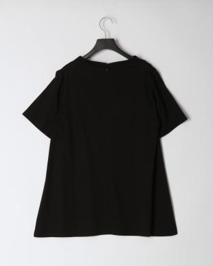 ブラック [綿100%・接触冷感]シルケットスムースチュニックカットソーを見る