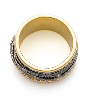 ゴールド/ブラック/ホワイトキュービックジルコニア キュービックジルコニア デザイン リングを見る