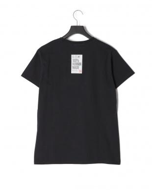 ブラック STICKERSプリント半袖Tシャツを見る