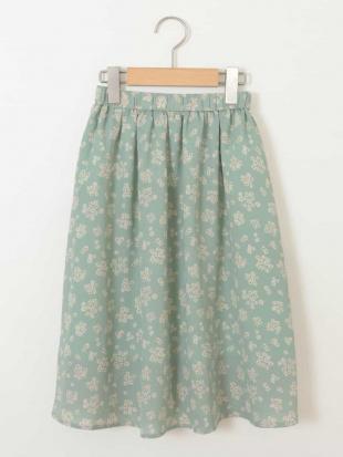 グリーン [100-130]【洗える】フラワープリントスカート[WEB限定サイズ] a.v.v bout de chouを見る