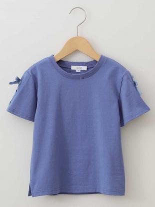 ホワイト [100-130]レースアップデザイン半袖Tシャツ[WEB限定サイズ] a.v.v bout de chouを見る