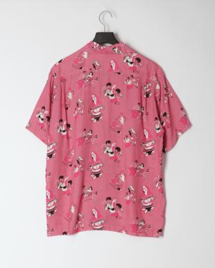 ピンク アロハシャツを見る