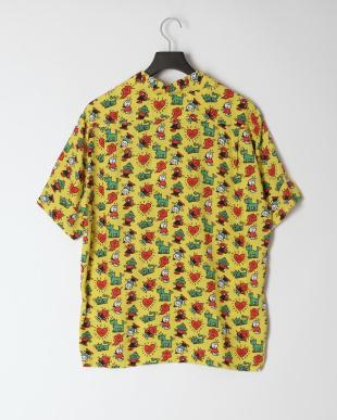 イエロー アロハシャツを見る