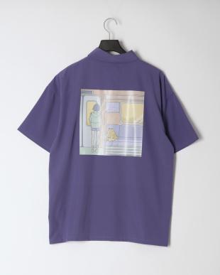 パープル ガールズイラストシャツBを見る