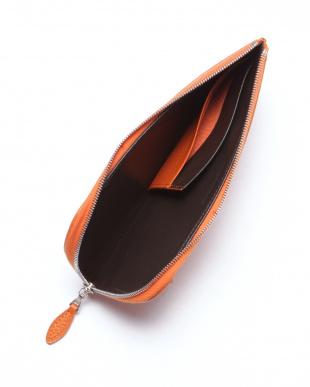 オレンジ L字ジップスリム長財布を見る