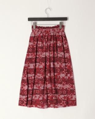 レッド Jumble Star シャーリングギャザースカートを見る