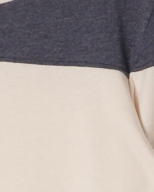 クリーム/ダークネイビー [MADE IN USA]SHORELINE 配色ライン七分袖 フットボールTシャツを見る