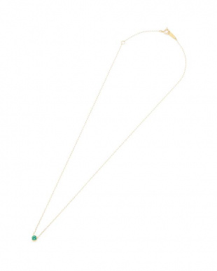 イエローゴールド K10YG ワンポイント ネックレスを見る