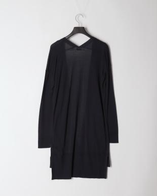 Dark Sapphire High Gauge Long Knit CardiganFQを見る