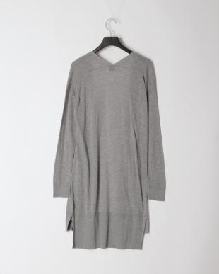 Light Grey Heather High Gauge Long Knit CardiganFQを見る
