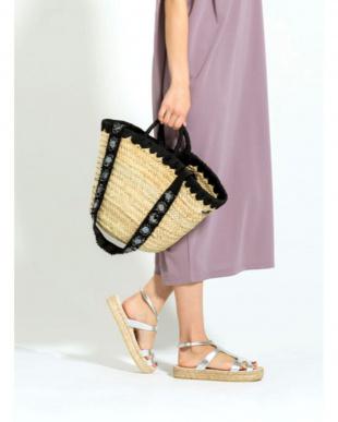 ブラック [MAISON CONNIE]01-deco long strap basket bagを見る